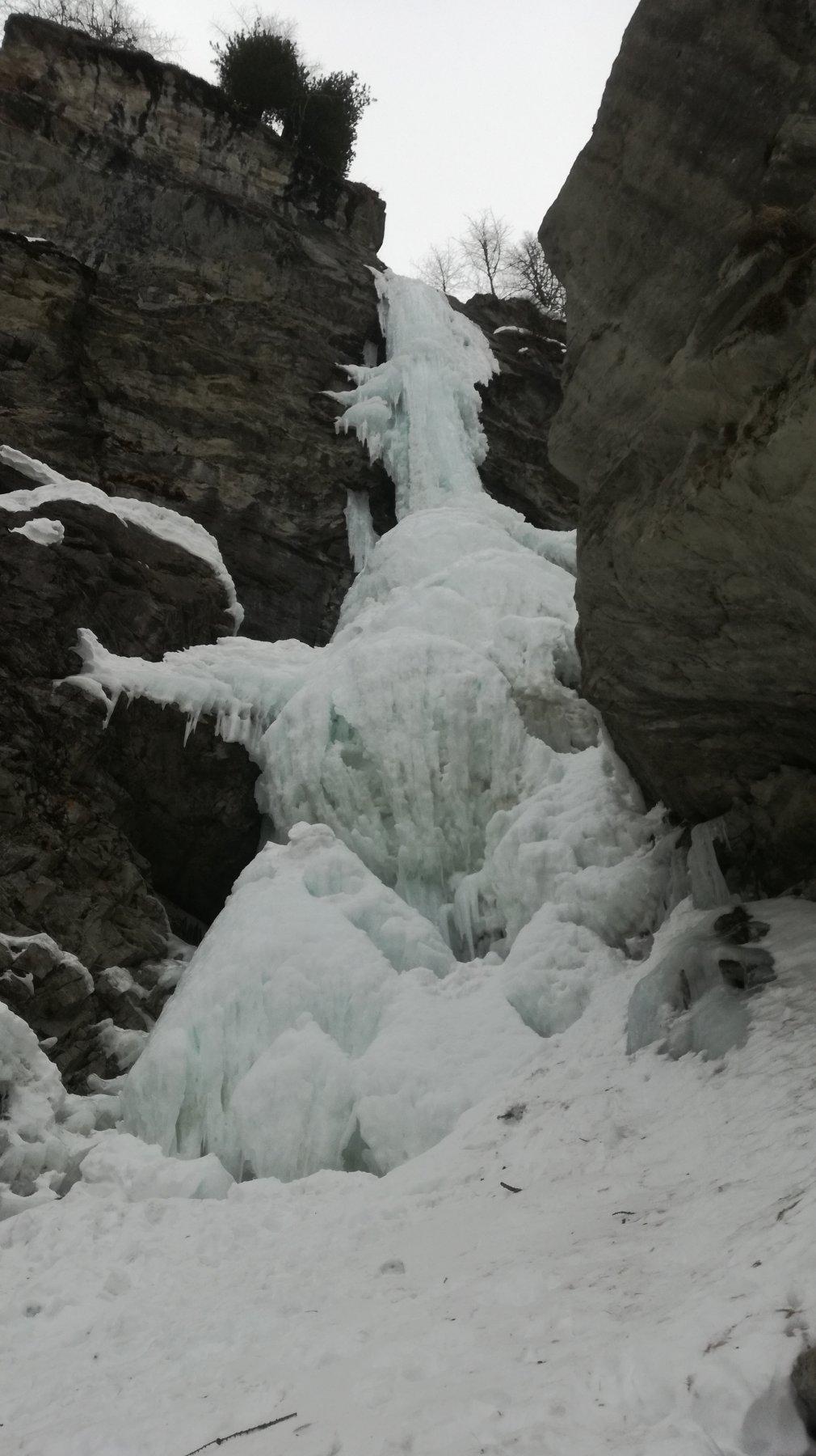 La cascata come si presenta oggi