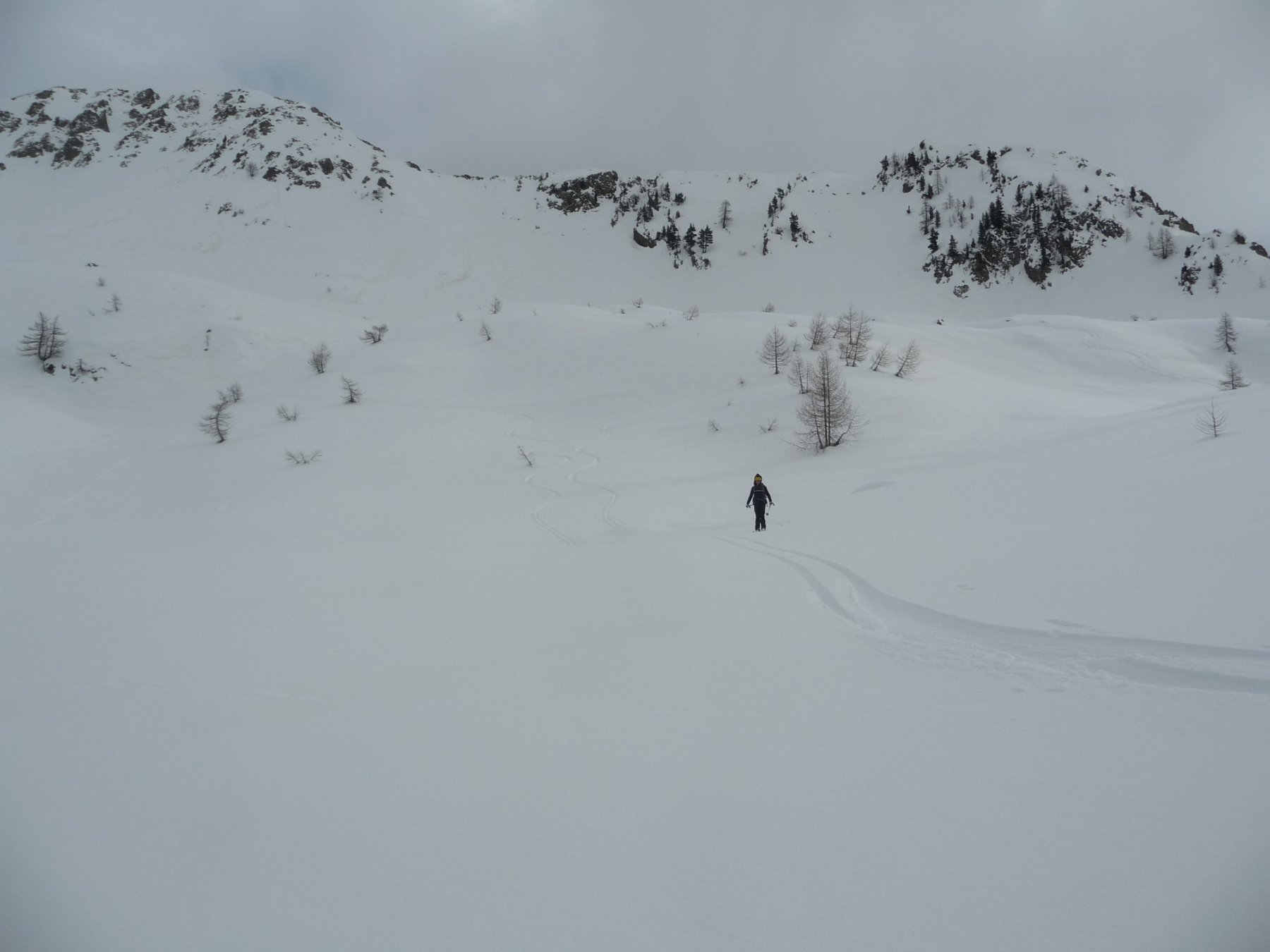 Bella neve nelle vallette