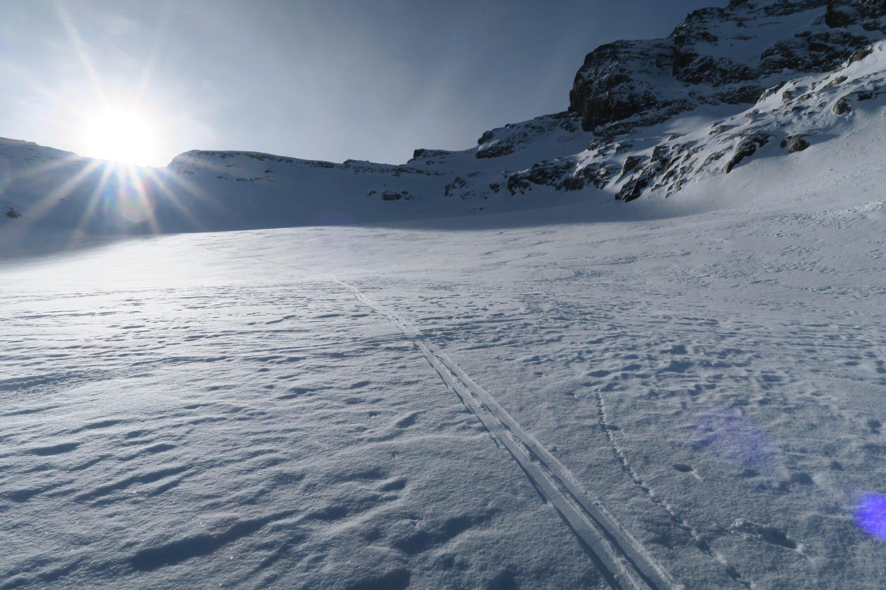 ghiacciaio del Grand Etret senza tracce recenti