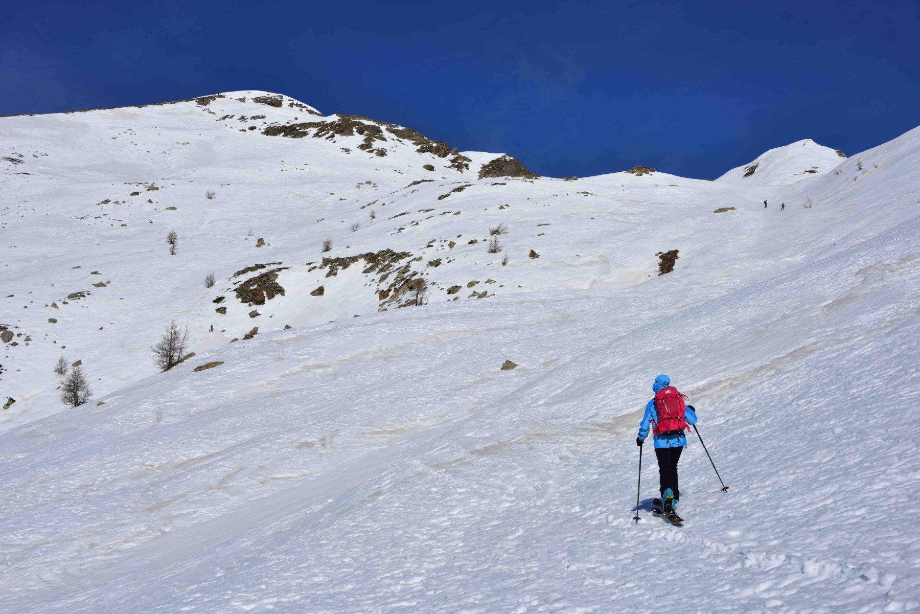 I pendii finali e la cima del Tibert.