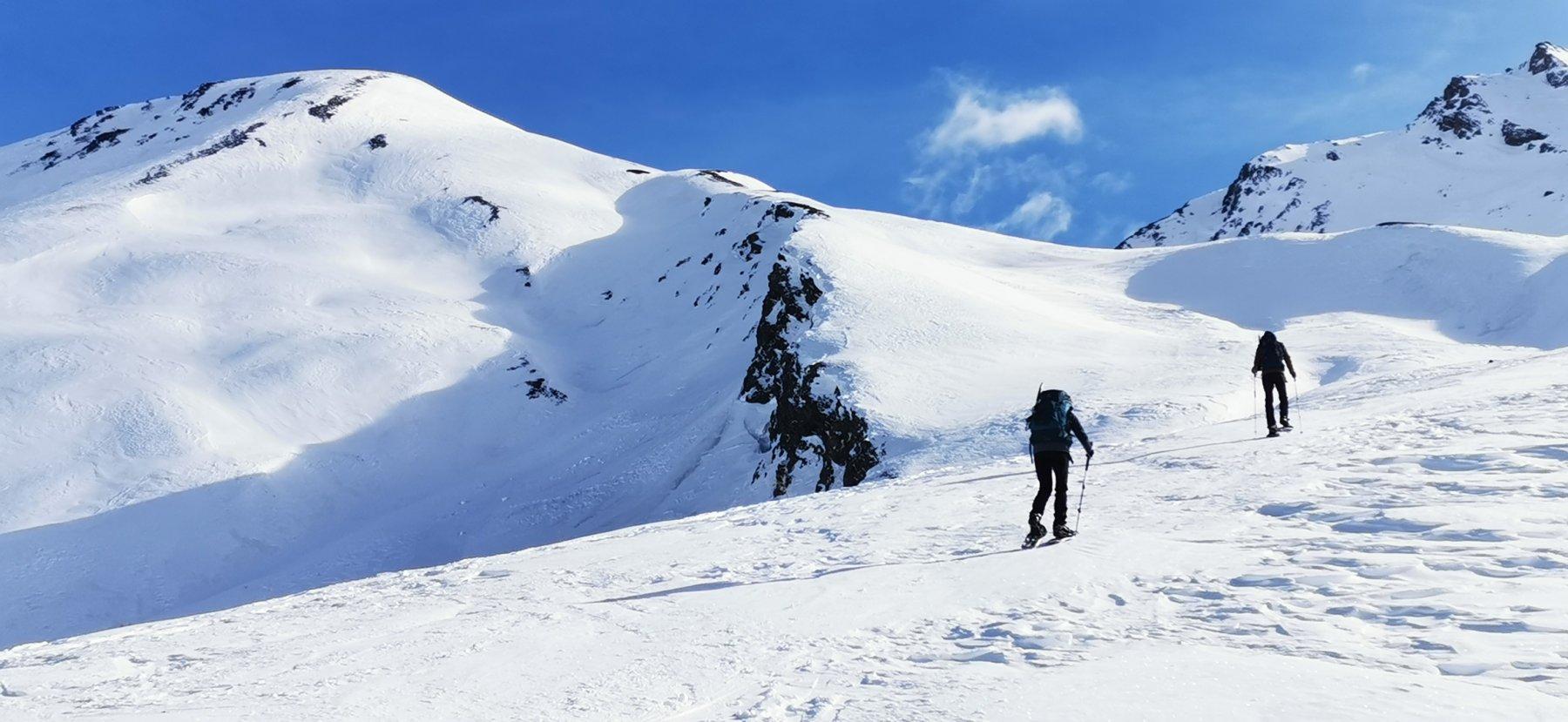 risalendo la parte alta del Vallon Ravin de l'Alpet