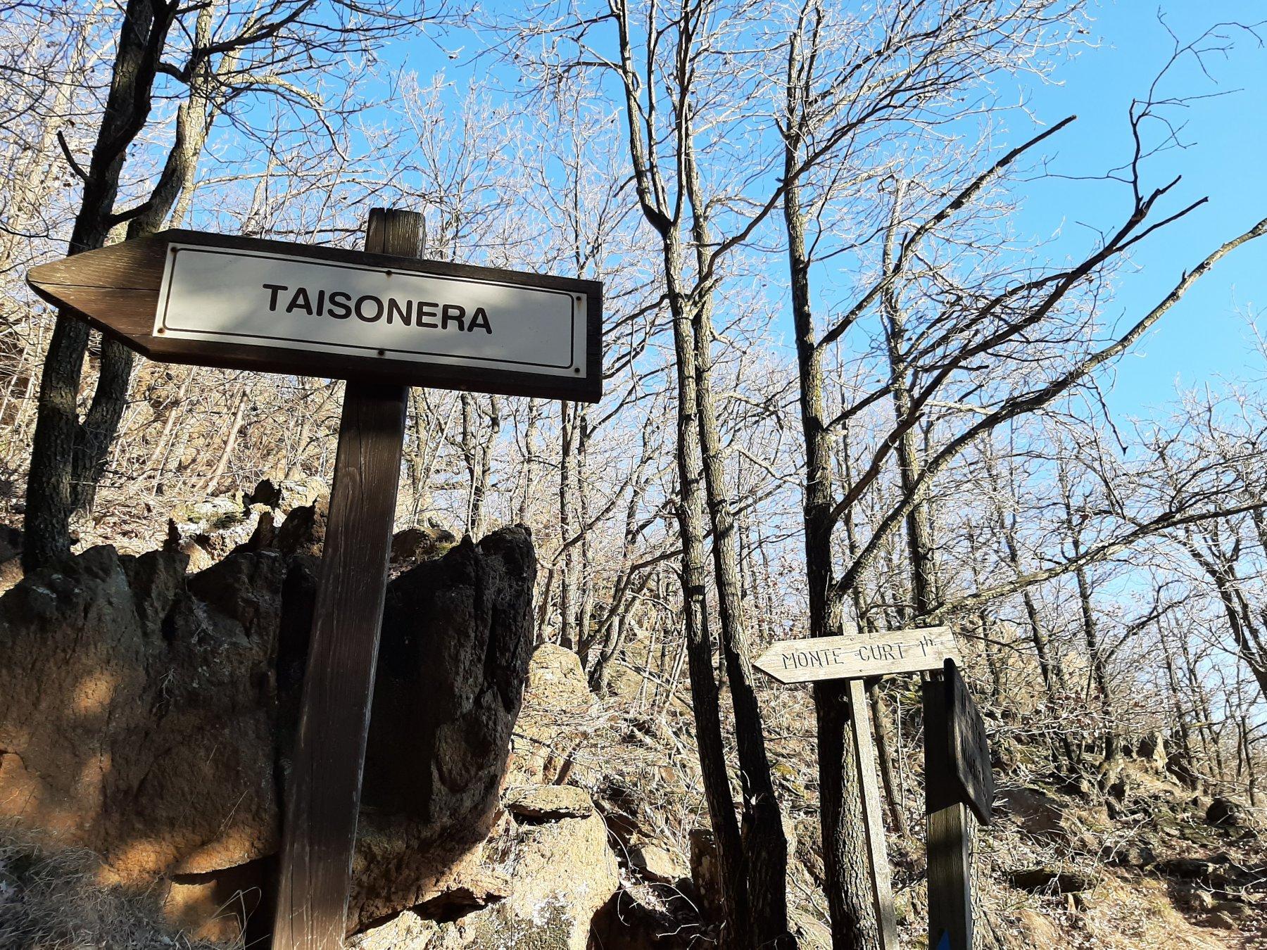 Bivio per località Taisonera