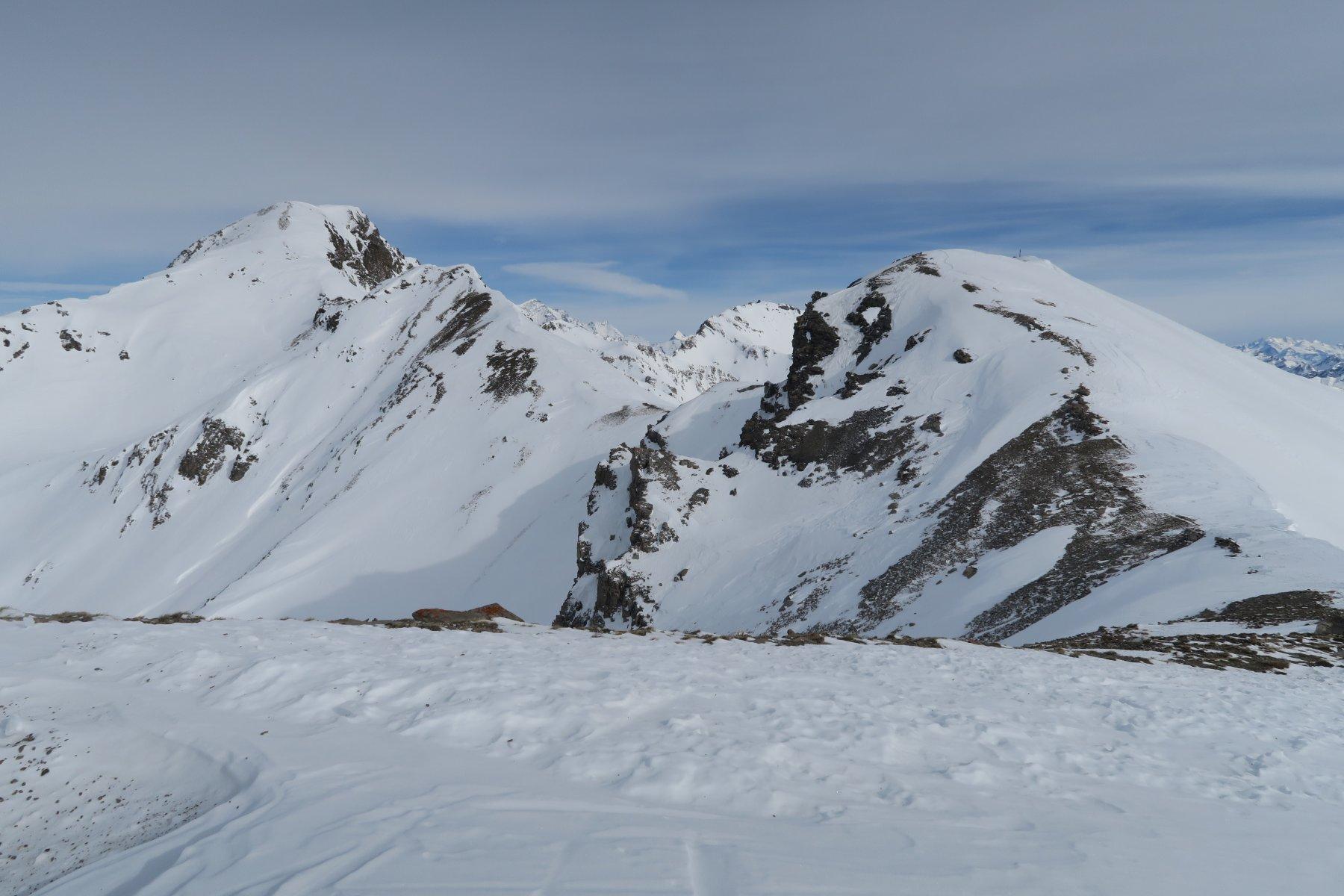 la punta Leissé e sulla sinistra il Monte Rosso di Vertosan