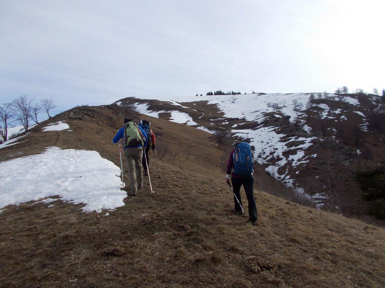 prima neve a pochi minuti dalla cima