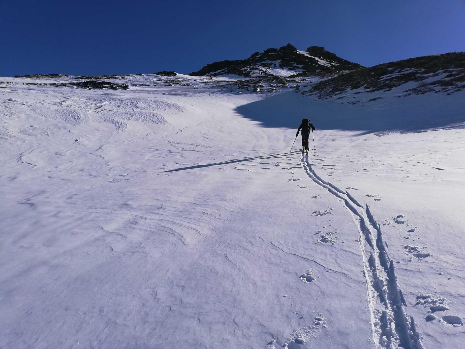 Bella neve nelle combette alte
