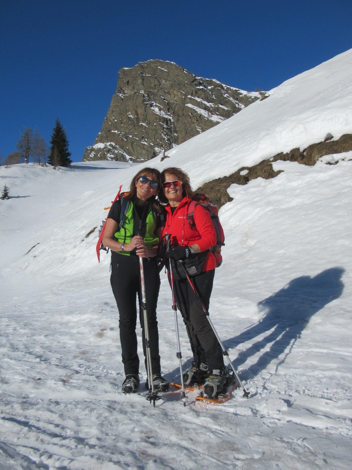 Graziella e Patrizia sotto il Monte Raty