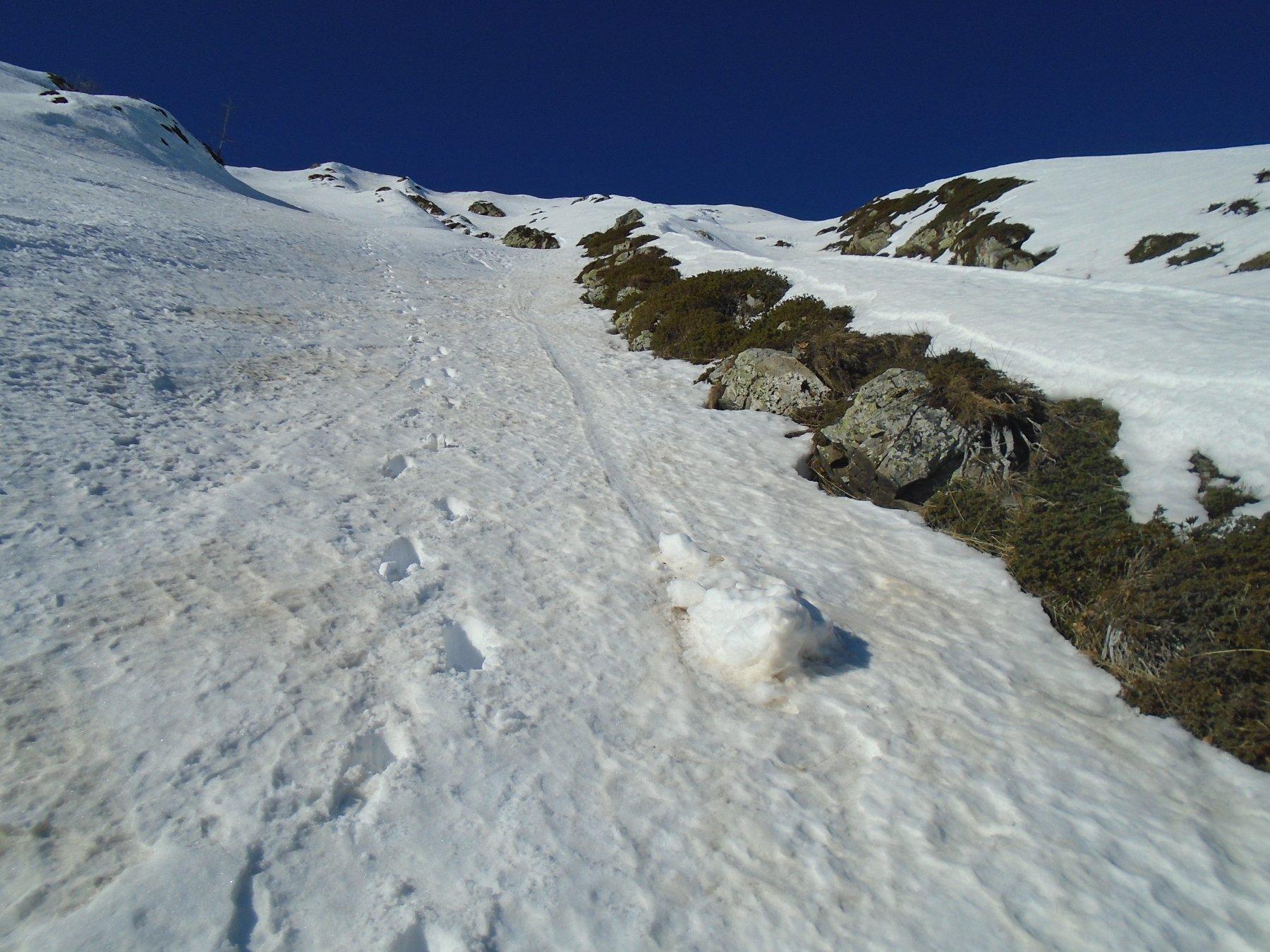 Lassu' la piccola punta di Monte Giosolette