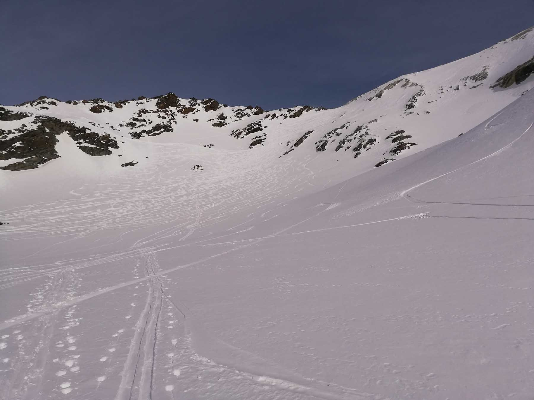 A sx Col de Labby, a dx Col du Moine