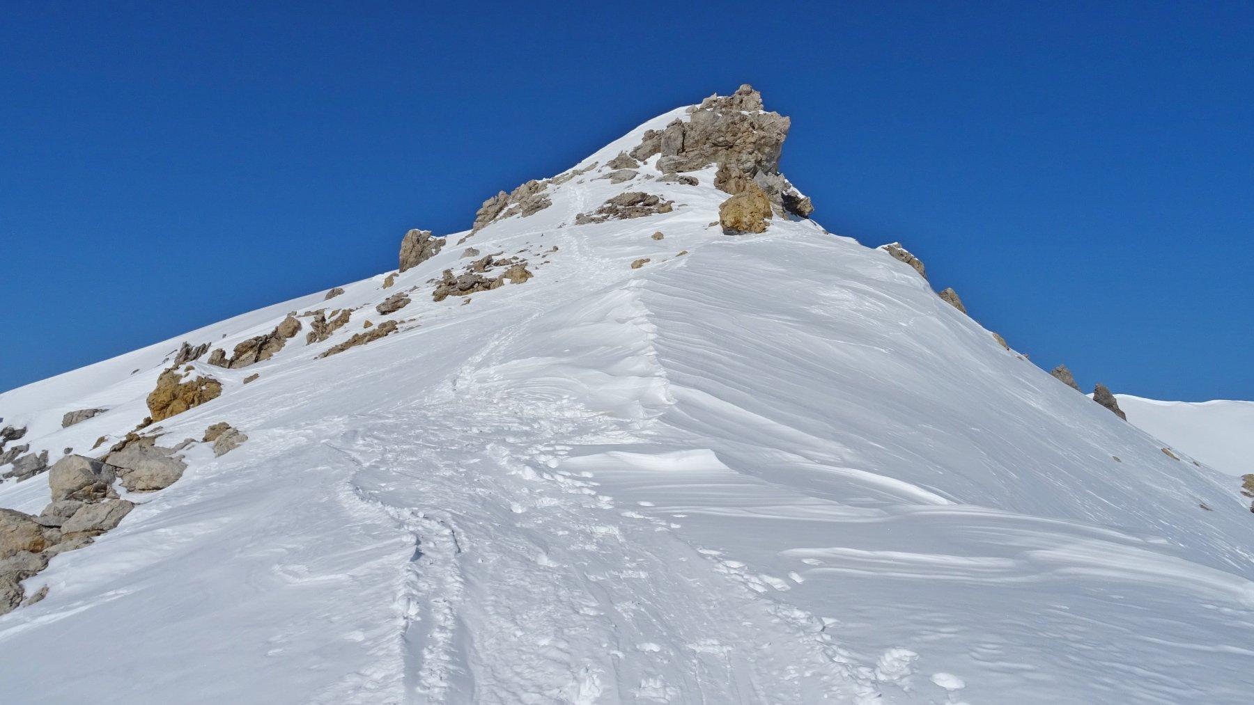 La cresta che porta al Corn Suvretta.