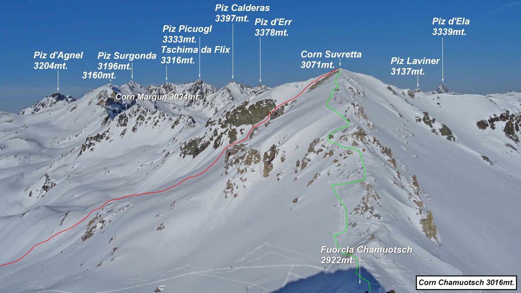 Suvretta (Corn) da l'Alp Güglia 2020-02-09