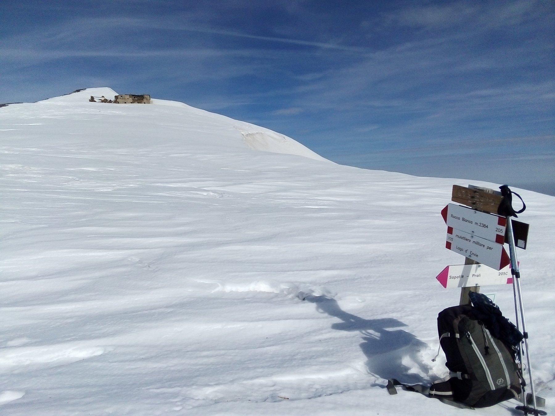 Al colle della Balma, guardando verso la cima Sud.