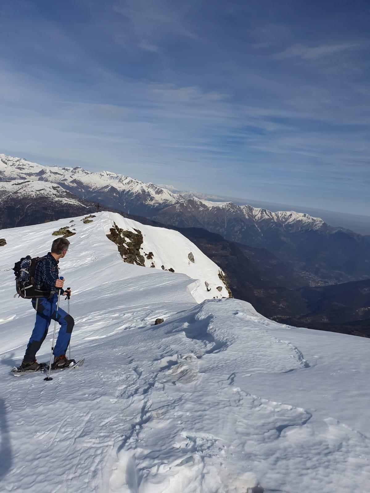 Il brevissimo tratto fra le cime Sud e Nord (foto Daniela Godio).