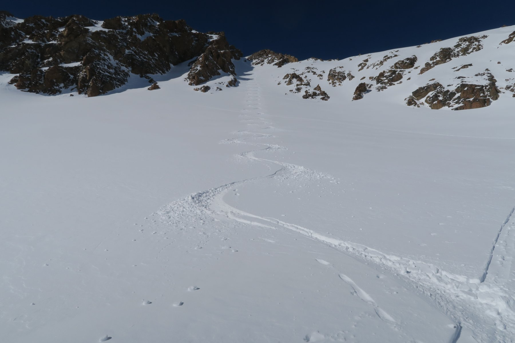 splendida neve nella prima parte