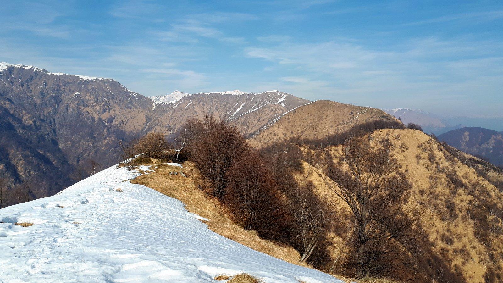 Dal Camossaro verso il Monte Croce, a destra nella foto