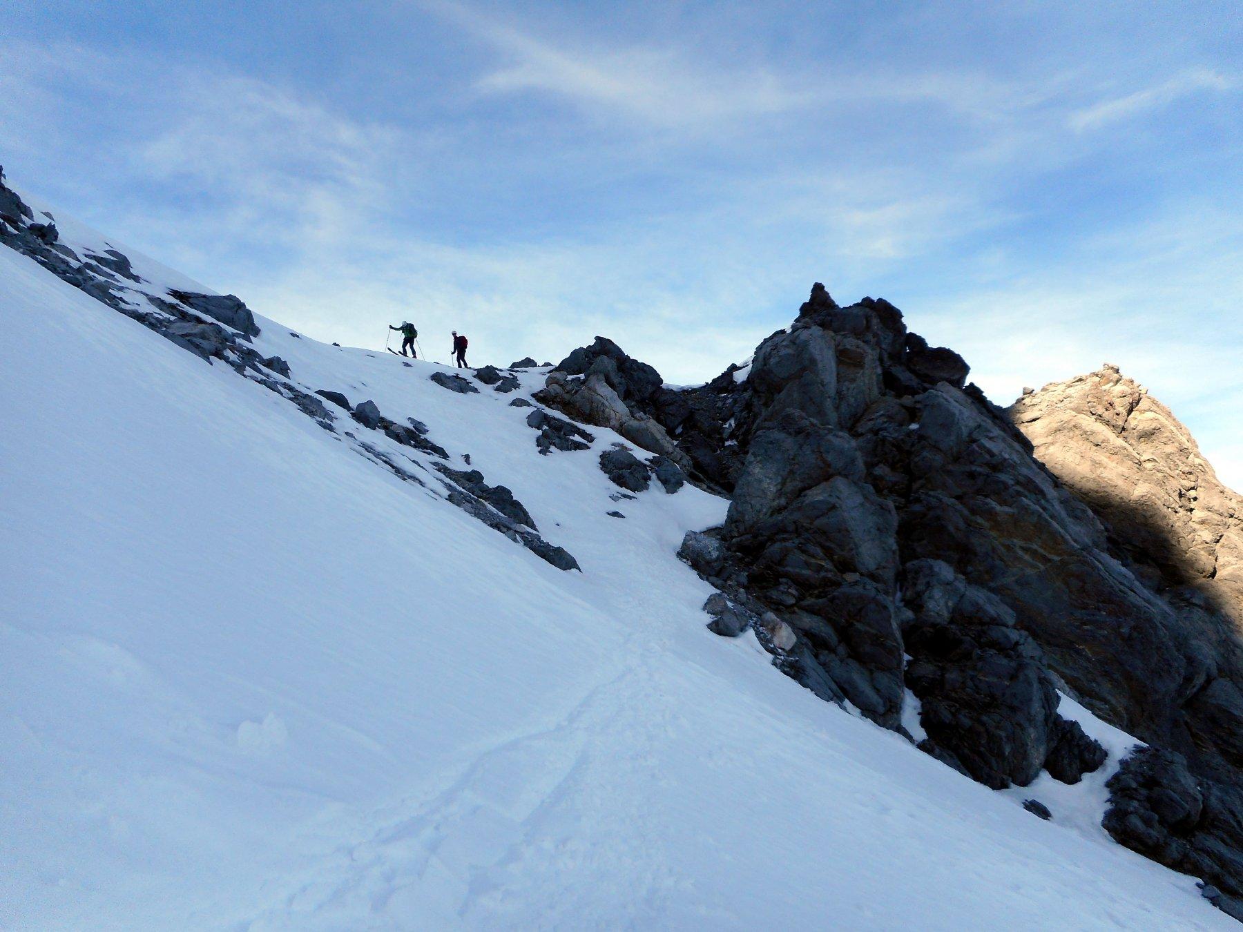 Desertes (Passo di) da Chateau Beaulard, giro della Punta Clotesse 2020-02-15
