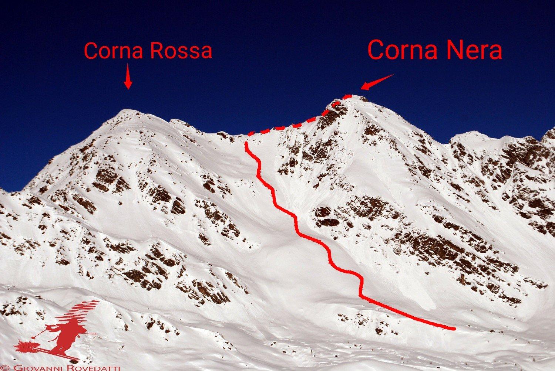 Rogneda (Cime di) Corna Nera 2020-02-15