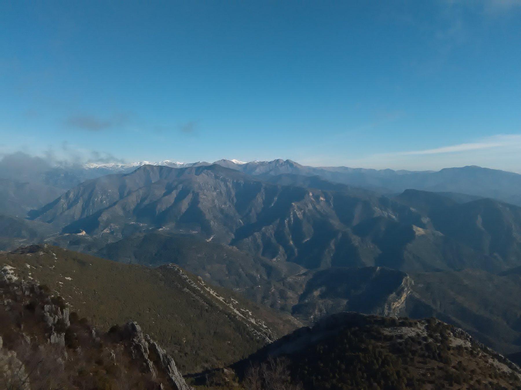 Dalla cima verso il Toraggio