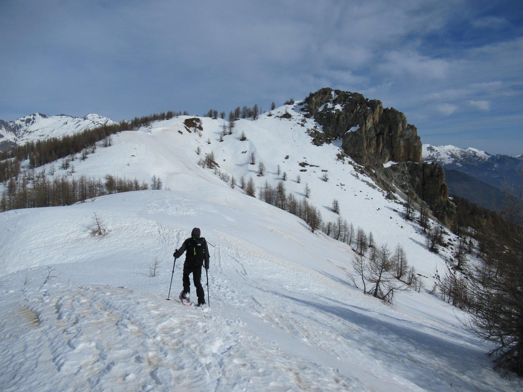 Midia Soprano (Monte) da Ponte Maira per il Monte Estelletta 2020-02-16