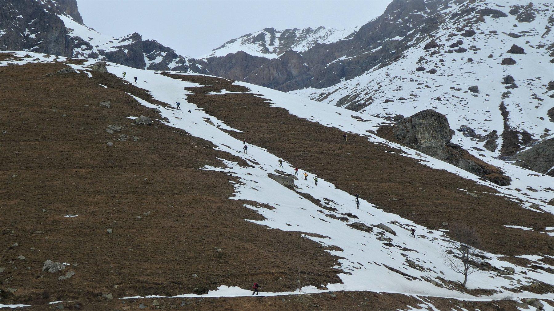 La rampa sotto all' Alpe Ovarda