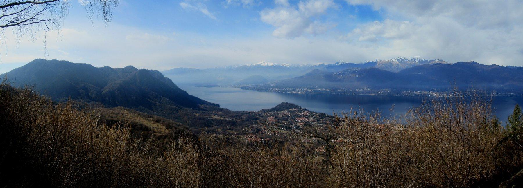 panorama sul Lago Maggiore da Pian Cuvinic