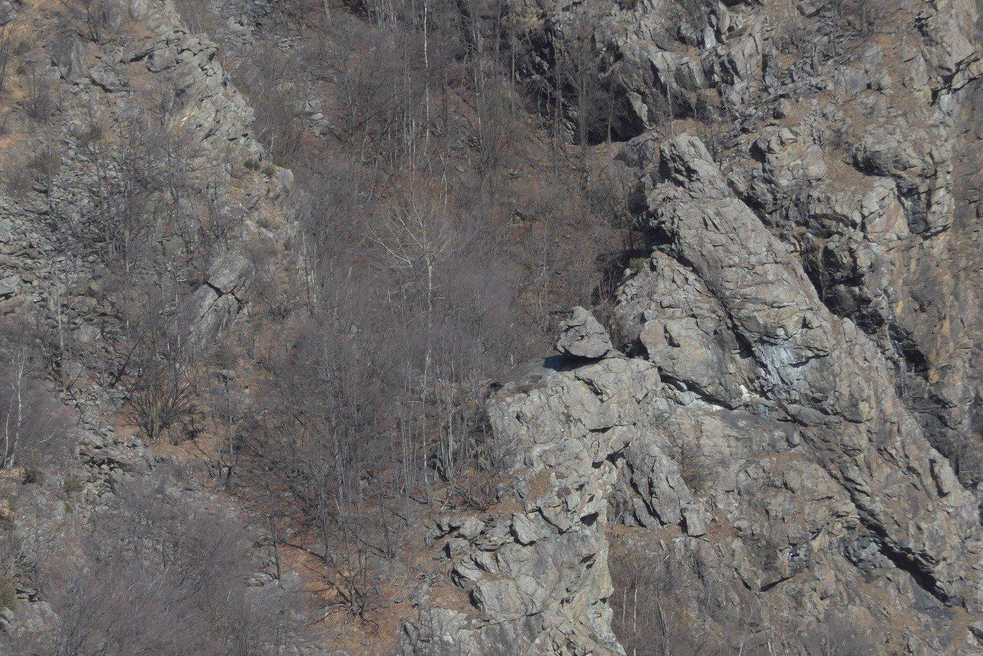Il Roc du Tchapèl dal punto panoramico
