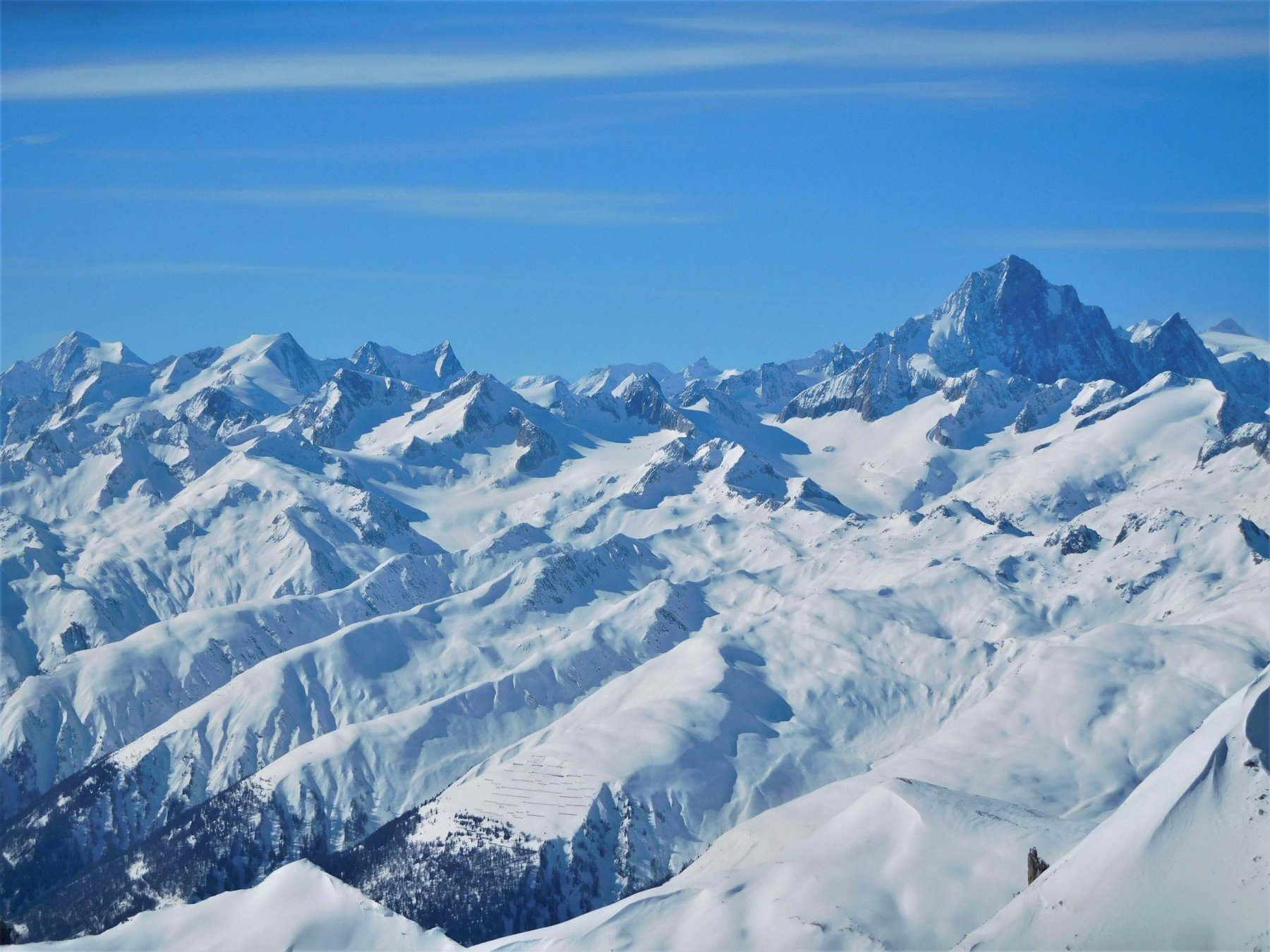 Vista sull'Oberland con sulla Dx il Finsteraahorn