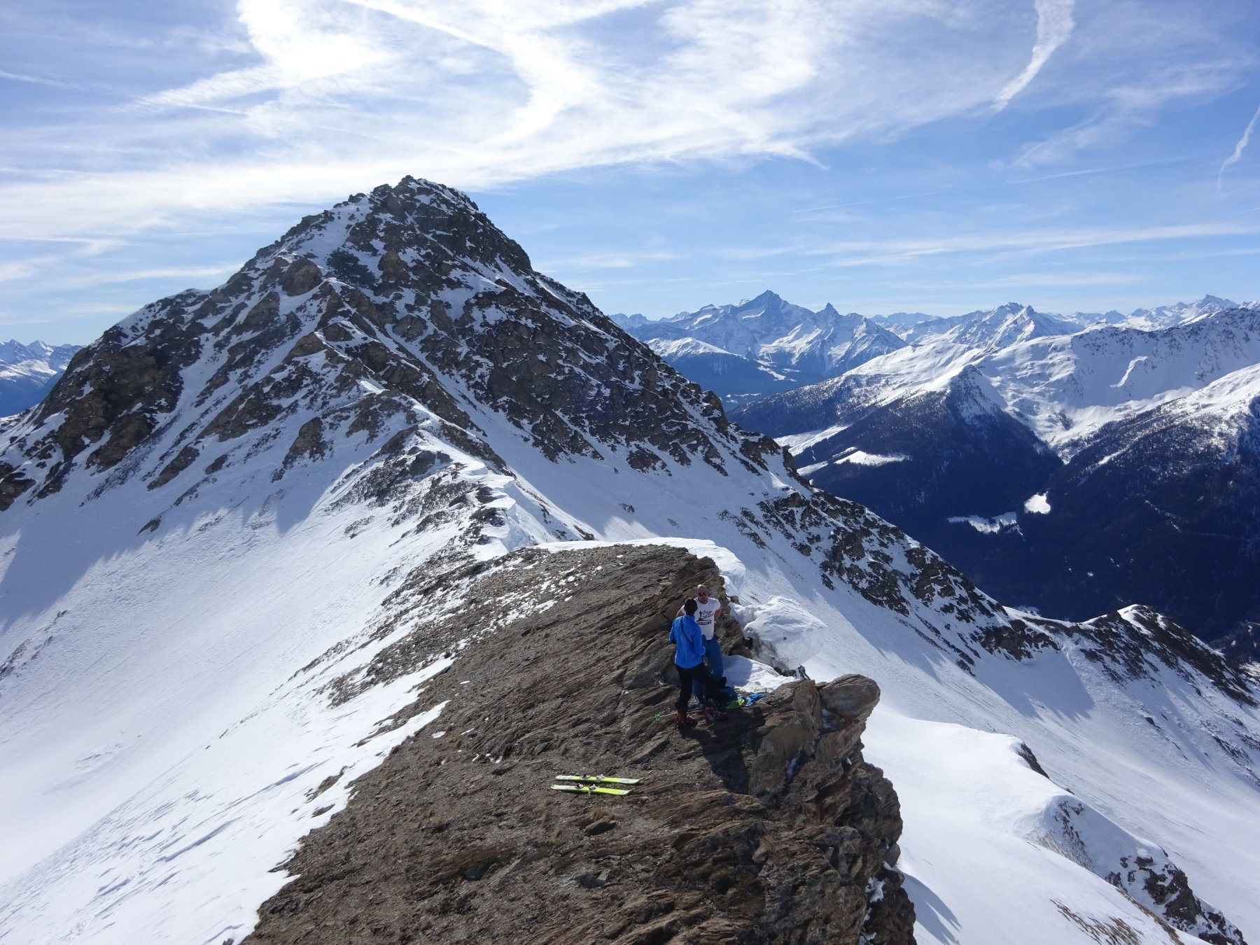 La nostra meta - cresta soprastante il Col du Champillon verso la Crou de Bleintse