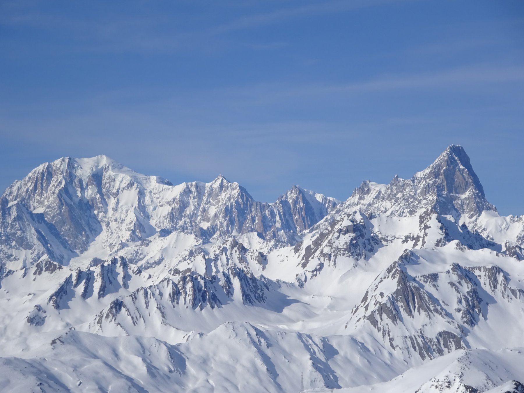 Monte Bianco dal Col du Champillon