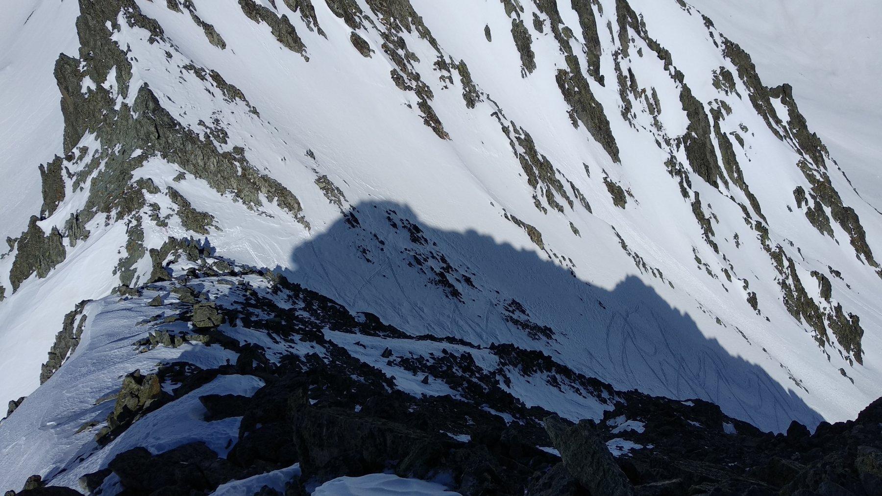il colle visto salendo verso la cima
