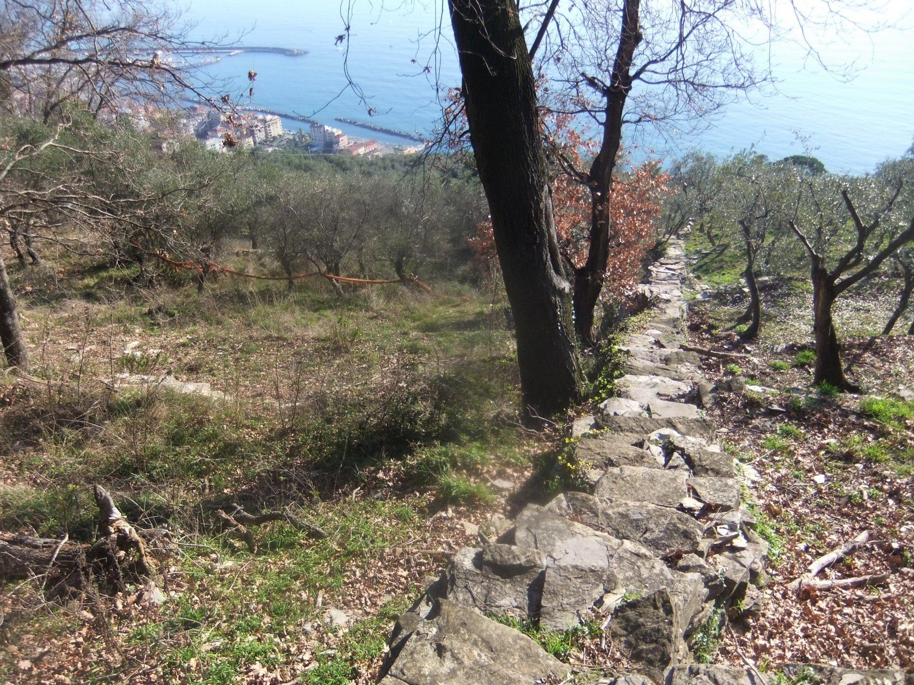 Scenografica scalinata di pietre