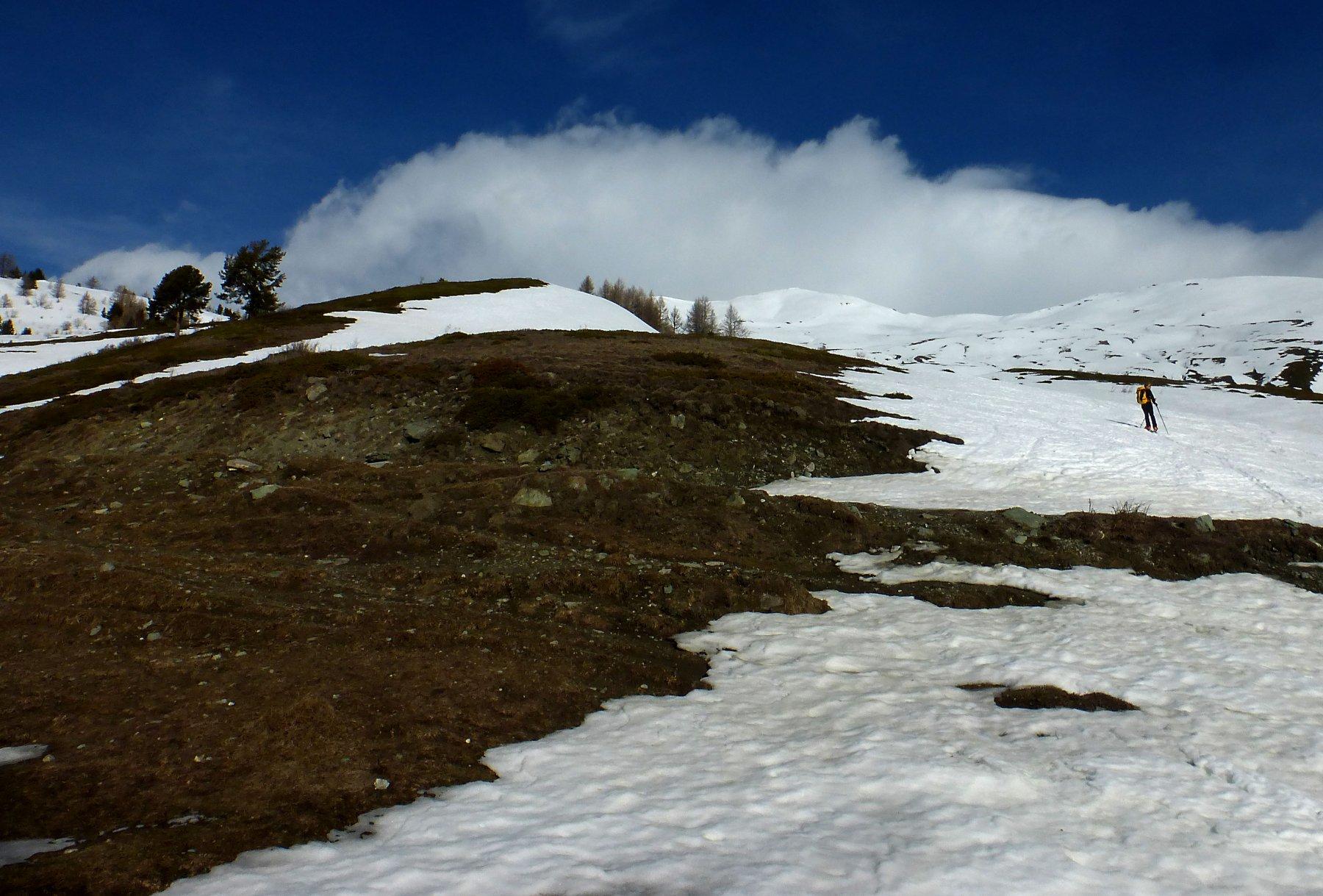 Tratti privi di neve