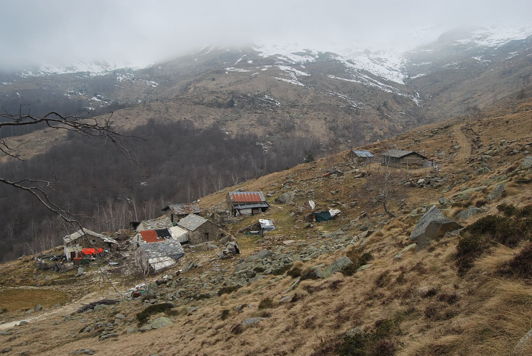 Paglie (Bric), da Graglia per il Col S. Carlo e traversata a Borgofranco 2020-02-25