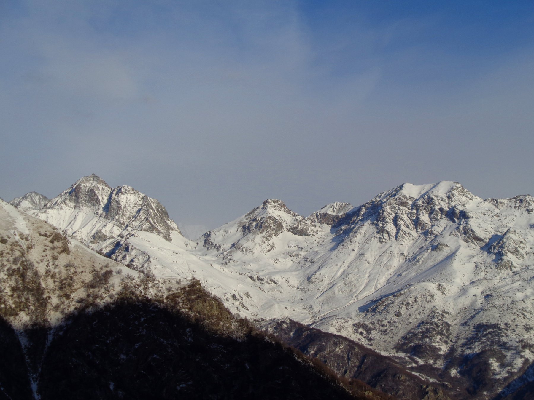 Panorama sulla Torre d'Ovarda salendo