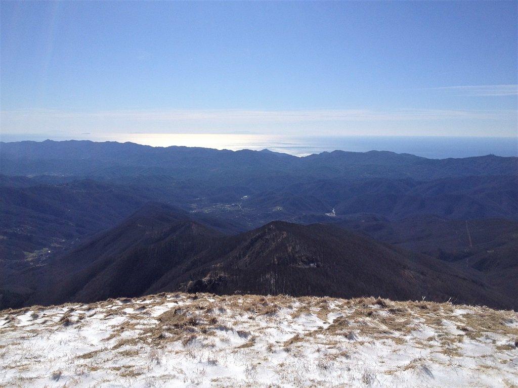 Dal monte Gottero la Corsica