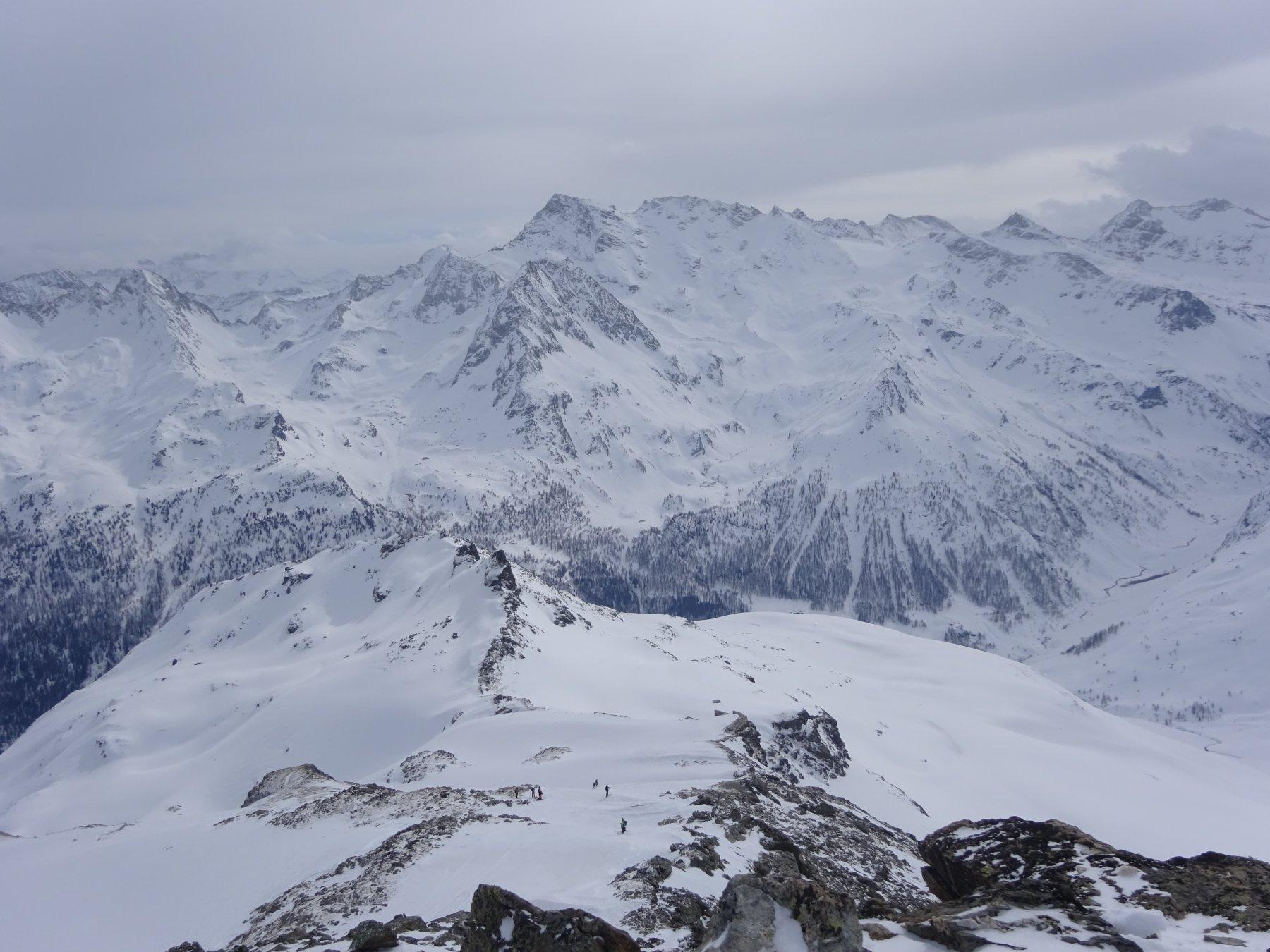 Panorama dalla cima sulla Valgrisanche