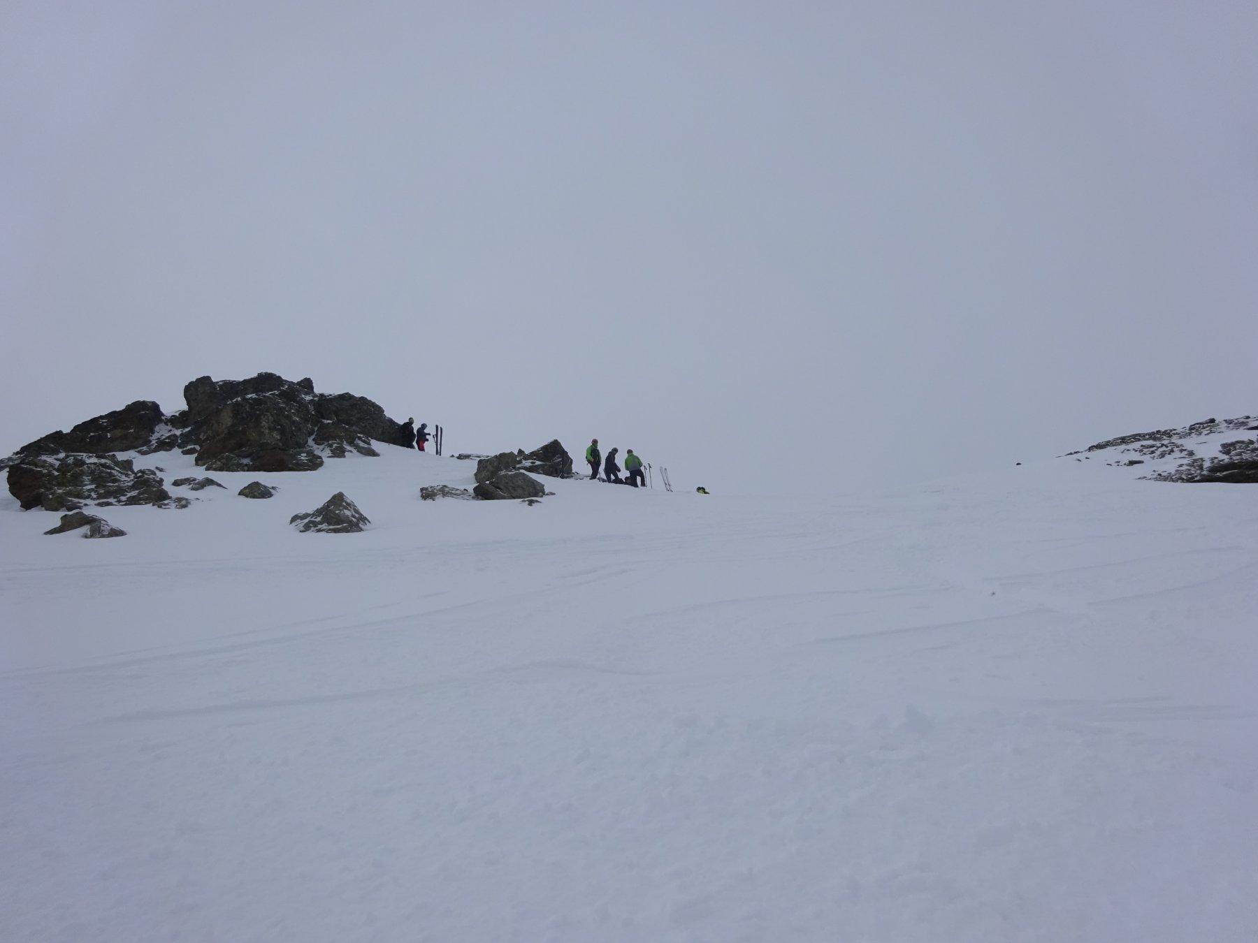 in vista della cima dell'Aro Vieille