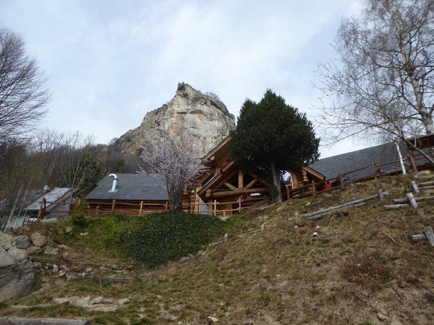 Casa Canada e la Rocca Sbarua