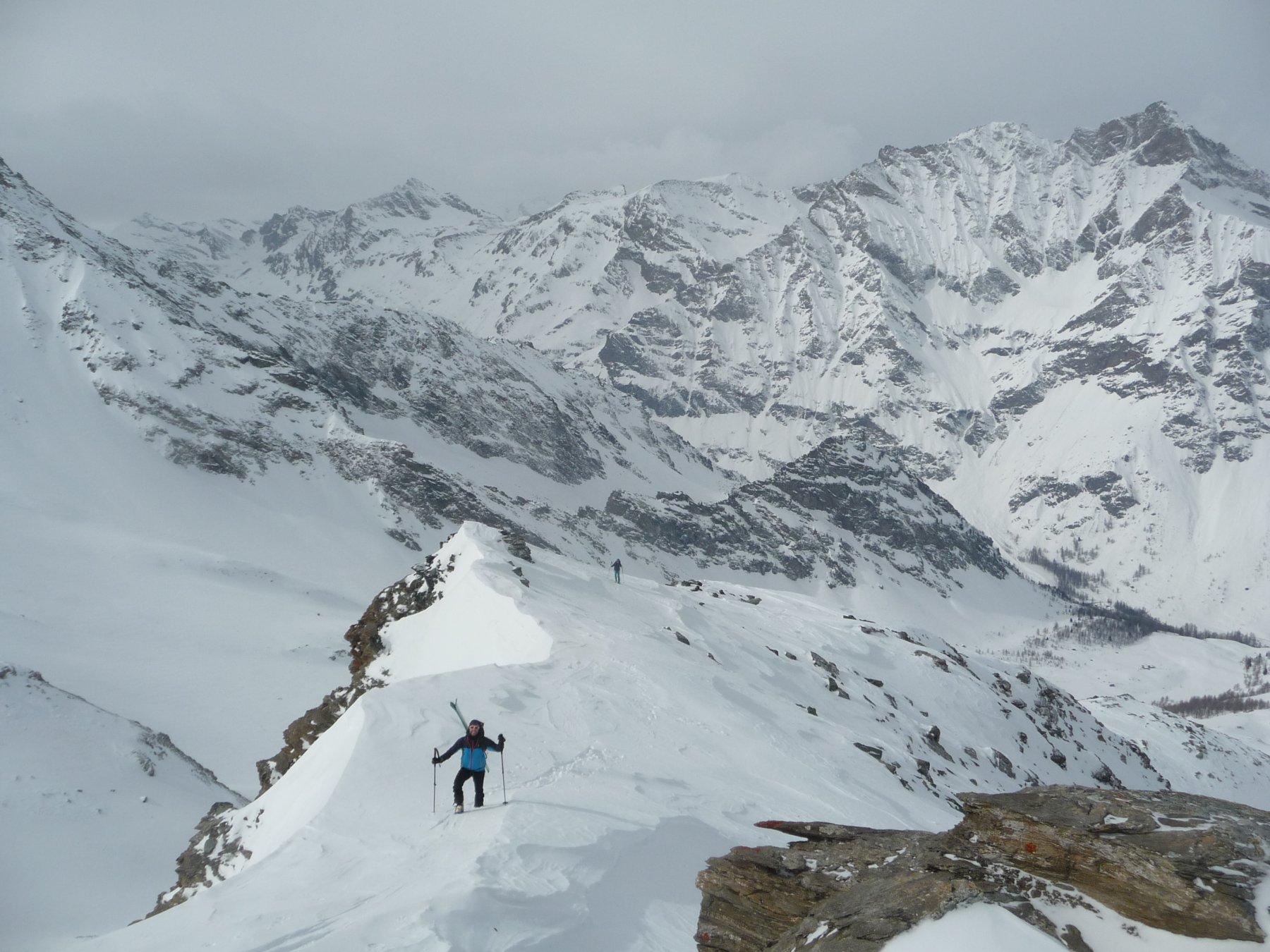 Gollien (Punta)spalla SO 3085 m da Bruil per il Vallone di Sort 2020-02-29