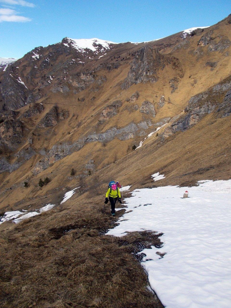 prima neve nella parte alta del percorso
