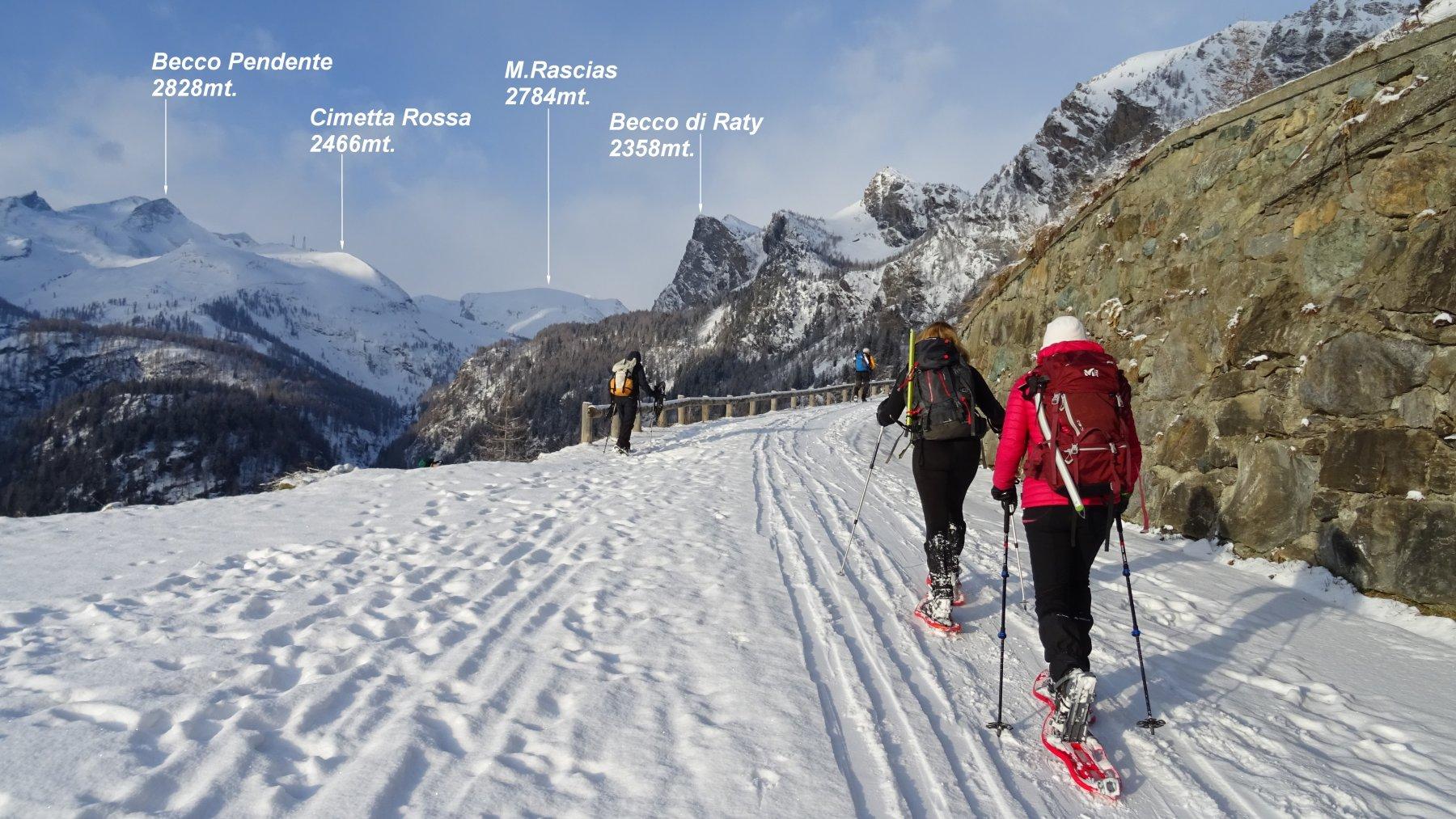 Partenza da Mont Blanc 1700mt.