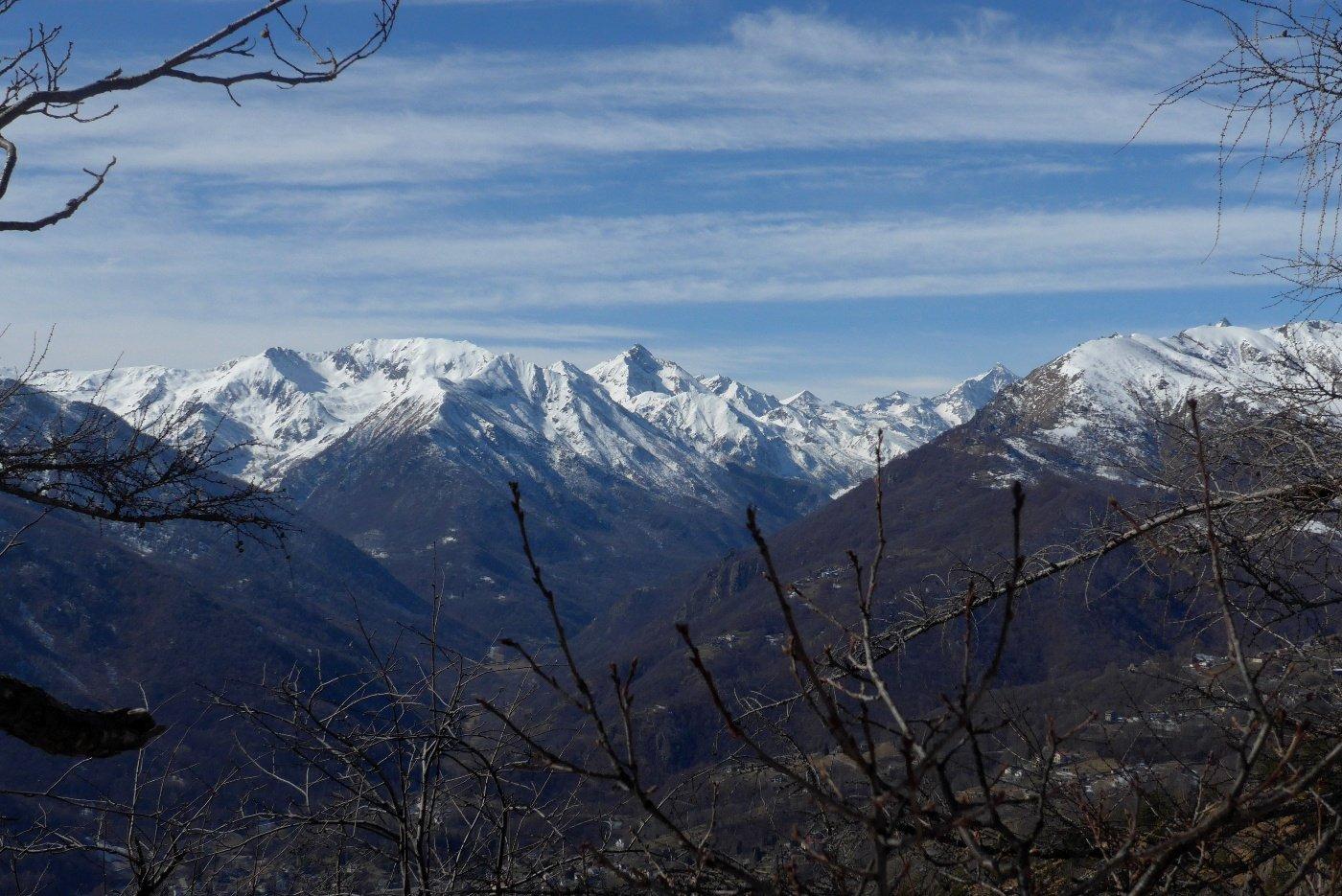 Vette della Val di Viù dal sentiero per la Cialmetta