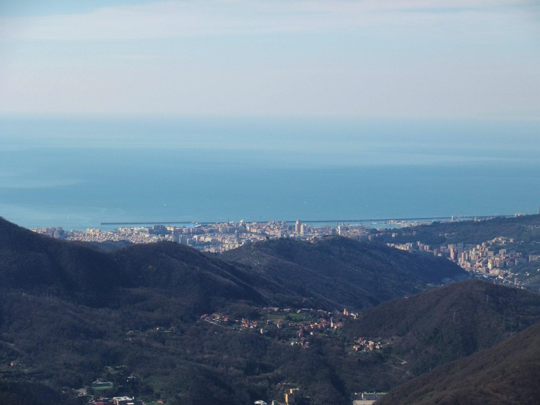 Il centro di Genova dalla vetta