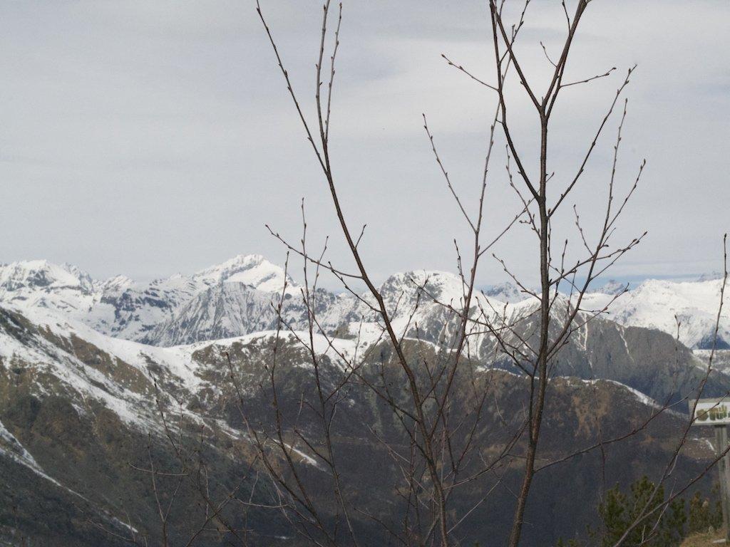 Panorama dalla dall'Uja