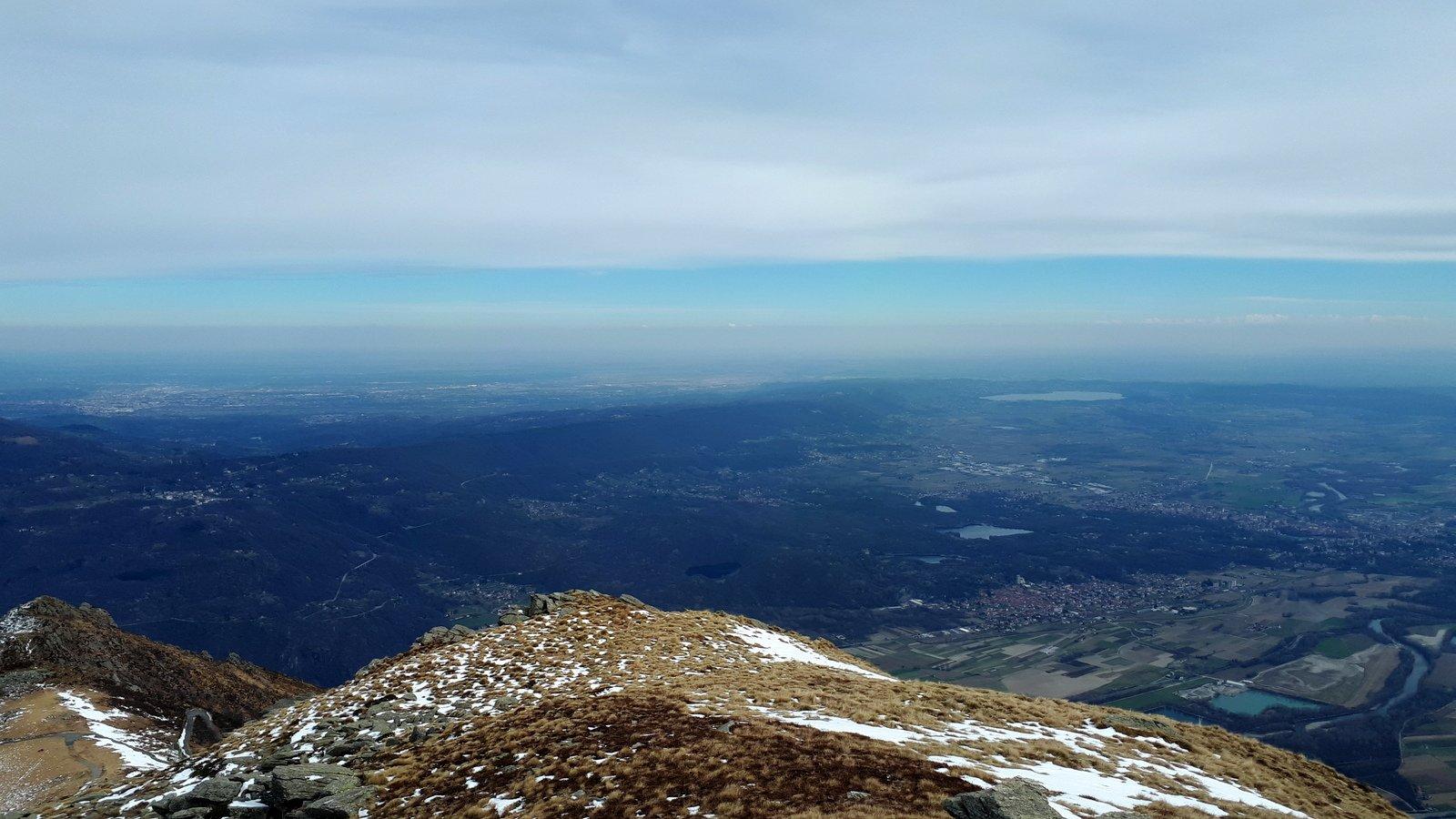 Dalla cima verso la pianura