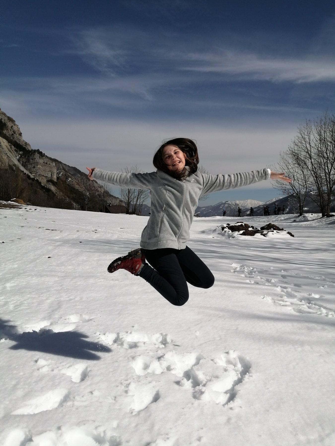 Un salto nella neve