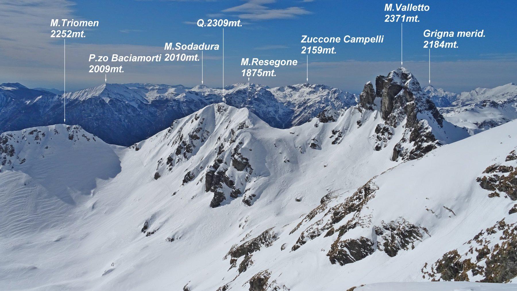 Panorama da quota 2353mt. del M.Ponteranica centrale.