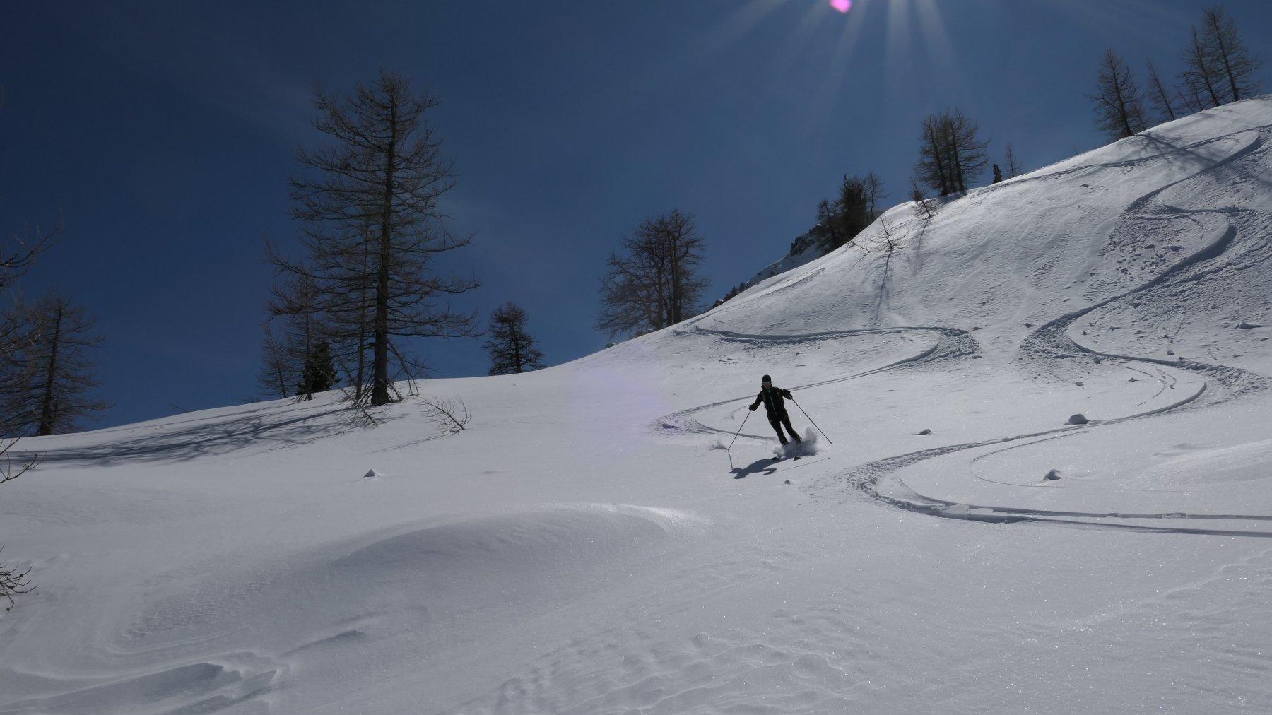 gran neve nel tratto della Julera