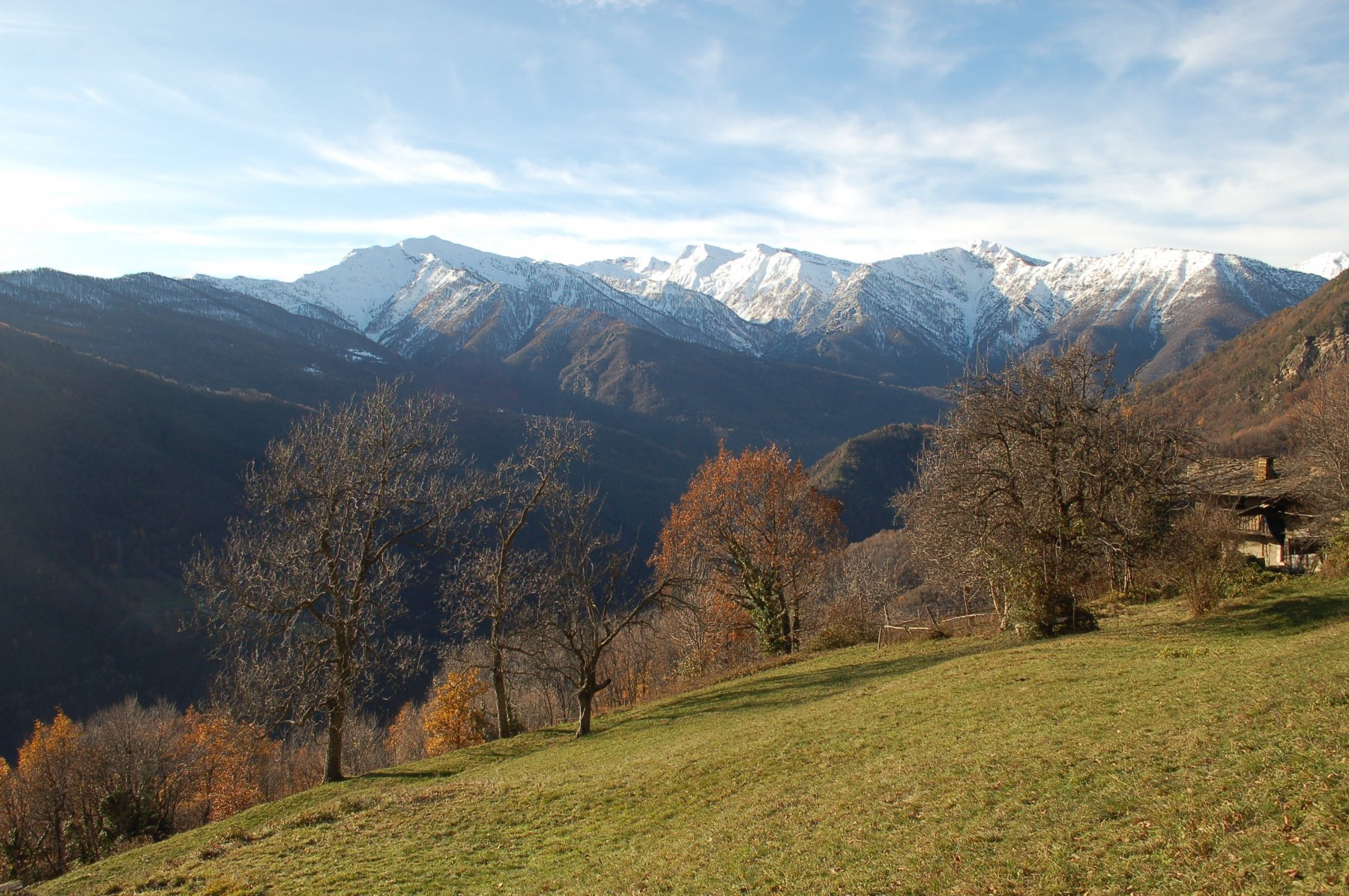 La Val Germanasca dai prati dei Cerisieri