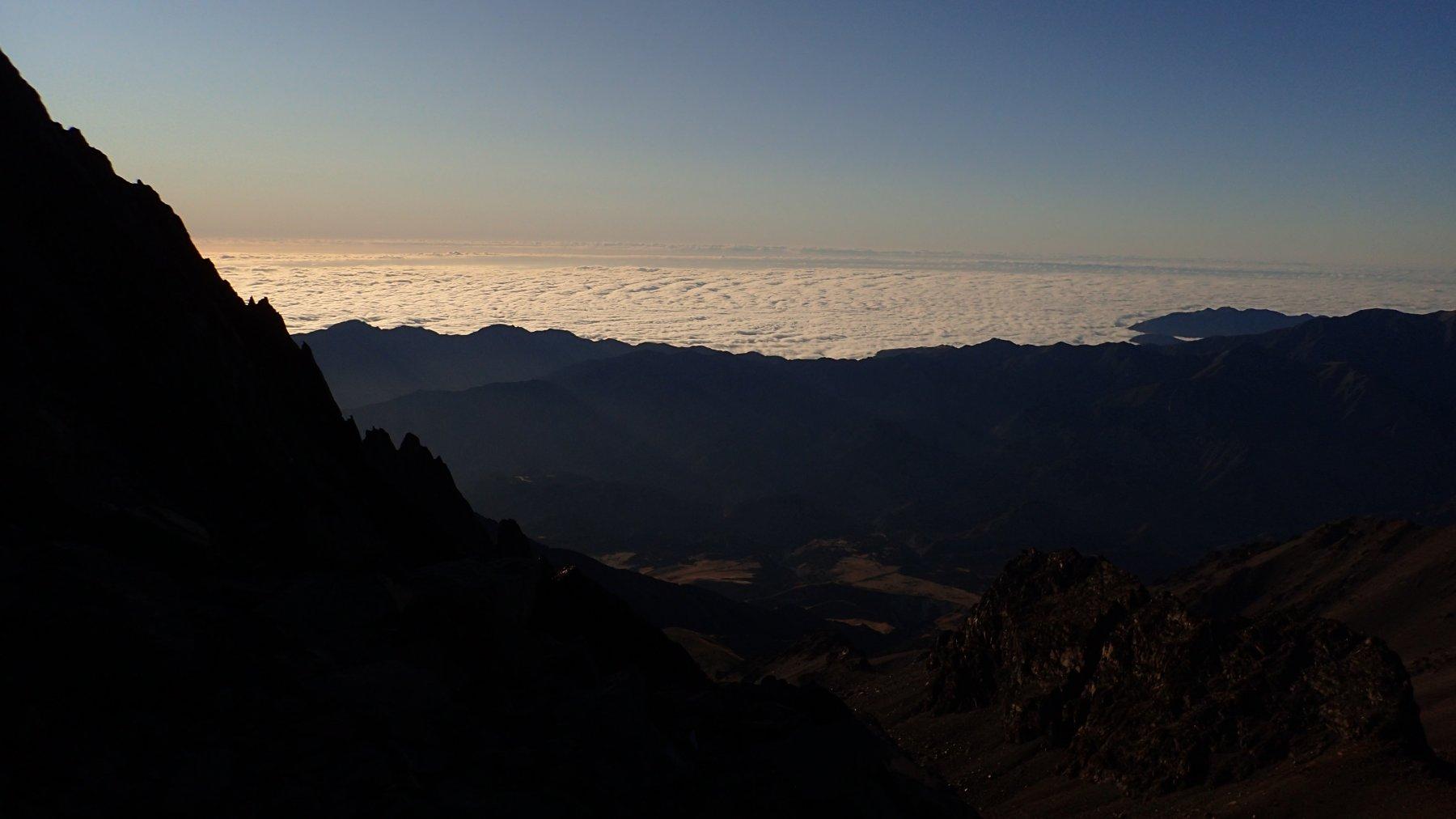 Mare di nubi su Kaikoura