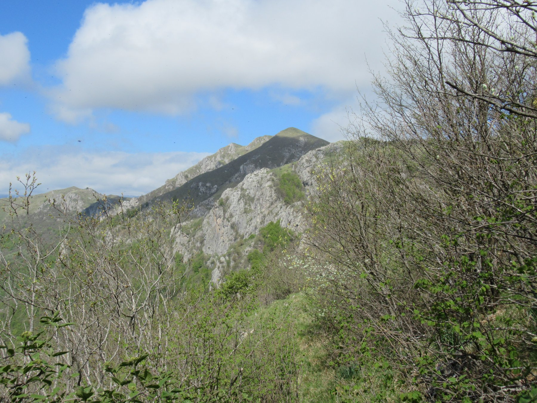 Il Galero dalla cresta che porta alle Caranche.